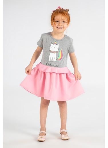 Lupiakids Süslü Kedi Kız Elbise Renkli